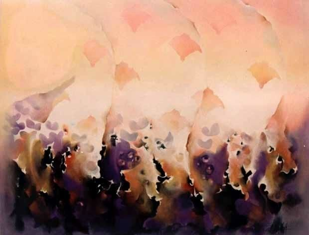 Entes - Painting,  47.2x59.1 in, ©2000 by Patricia Casanova -
