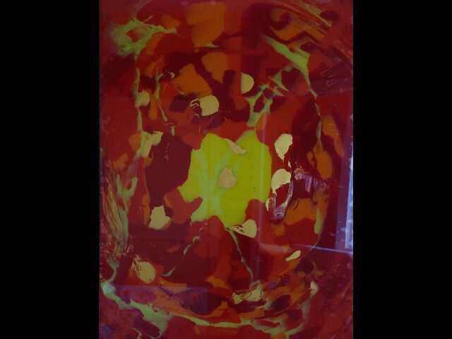 SOUS VERRE 2 - Painting,  31.5x35.4 in, ©2007 by K100 -