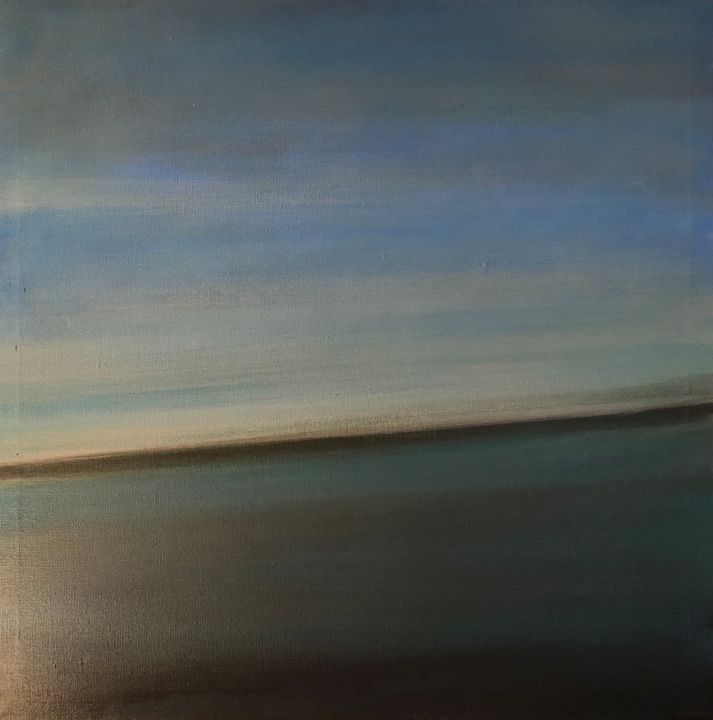 Horizon - Painting,  24x24x0.4 in, ©2017 by Jeanie Castelli -