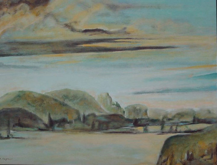 Paysage italien - Painting,  50x60 cm ©2002 by Jeanie Castelli -