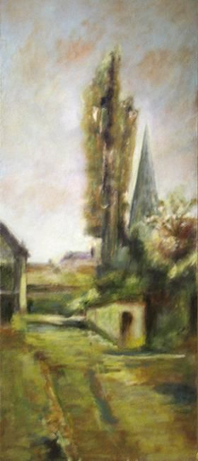 Village 3 - Painting ©2008 by Jeanie Castelli -