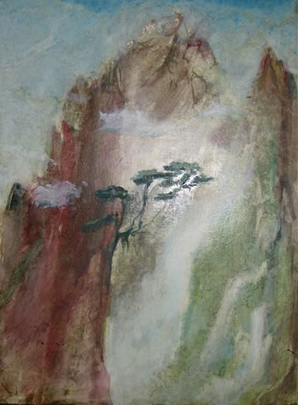 Paysage chinois 2 - Painting, ©2005 by Jeanie Castelli -