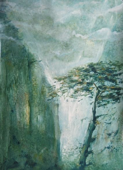 Paysage chinois 3 - Painting, ©2005 by Jeanie Castelli -