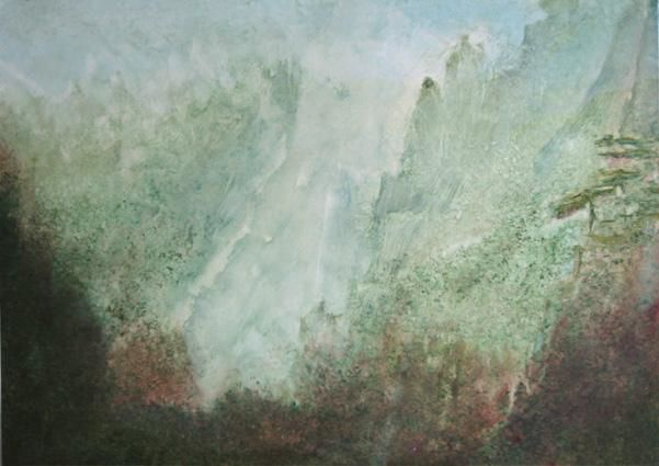 Paysage chinois 4 - Painting, ©2004 by Jeanie Castelli -