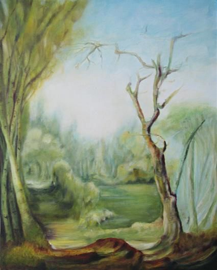 Paysage classique 2 - Painting ©2005 by Jeanie Castelli -