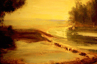 Paysage anglais - Painting, ©2000 by Jeanie Castelli -