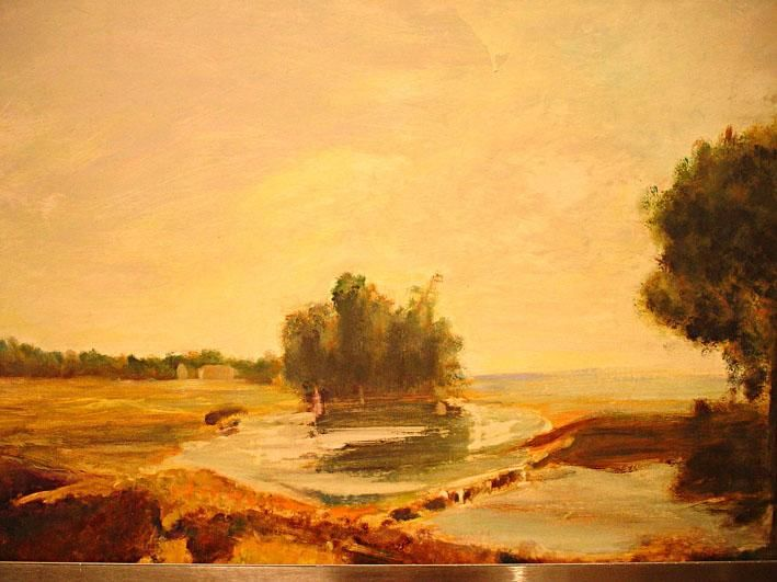 Paysage - Painting ©2002 by Jeanie Castelli -