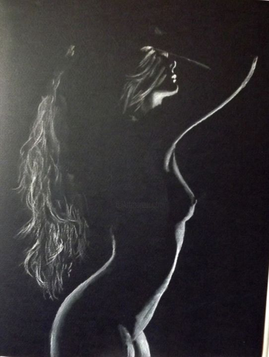 """Drawing titled """"NUDE (2)"""" by Catalin Soare, Original Art, Pastel"""