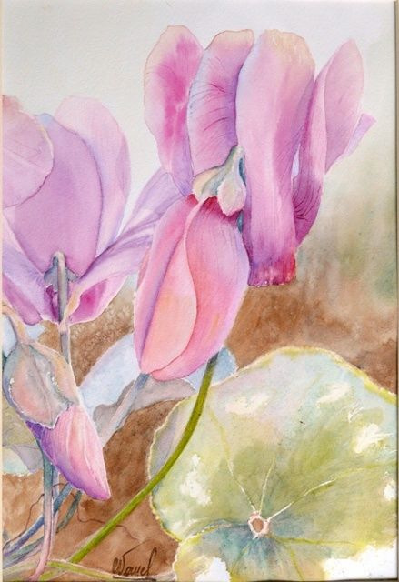 blush and co 2 - Painting,  30x20 cm ©2009 by Catherine Vanel -