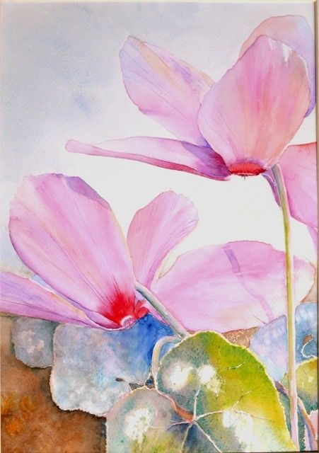 blush and co 1 - Painting,  30x20 cm ©2009 by Catherine Vanel -