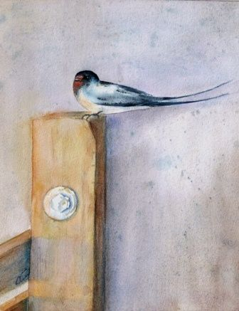 petite pause - Painting,  30x20 cm ©2008 by Catherine Vanel -