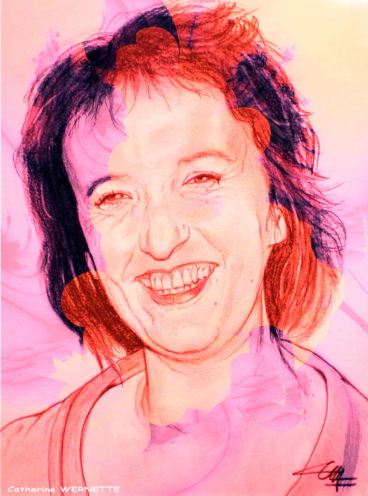 Anne ROUMANOFF - Digital Arts ©2014 by Catherine WERNETTE -                                            Figurative Art, Portraits, Anne ROUMANOFF