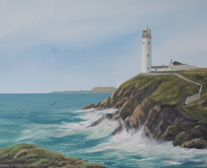 far-fanad-lighthouse.jpg - Painting ©2017 by Cathal O Malley -