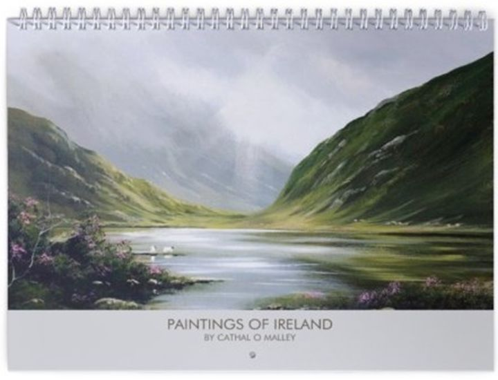 CALENDAR OF MY PAINTINGS 2019 - Painting ©2018 by Cathal O Malley -                                                            Realism, Paper, Landscape, CALENDAR, ART, IRISH, SALE