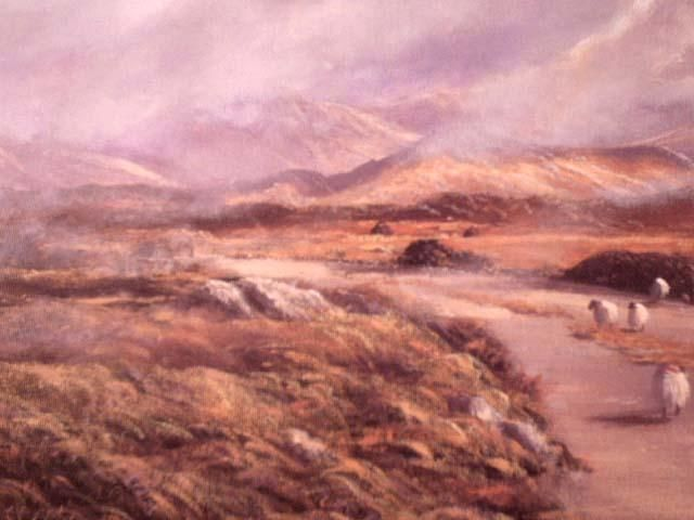 inagh valley - Painting,  12x16 in ©2004 by Cathal O Malley -