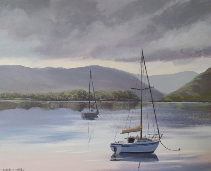 """Painting titled """"Evening reflections"""" by Cathal O Malley, Original Art, Acrylic"""