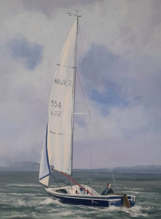 """Painting titled """"Sailing west"""" by Cathal O Malley, Original Art, Acrylic"""