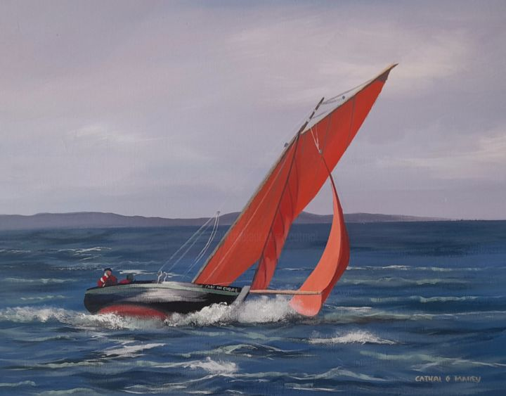 """Painting titled """"Croi an cladaig"""" by Cathal O Malley, Original Art, Acrylic"""