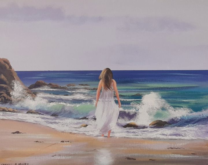 """Painting titled """"Sunny days"""" by Cathal O Malley, Original Art, Acrylic"""