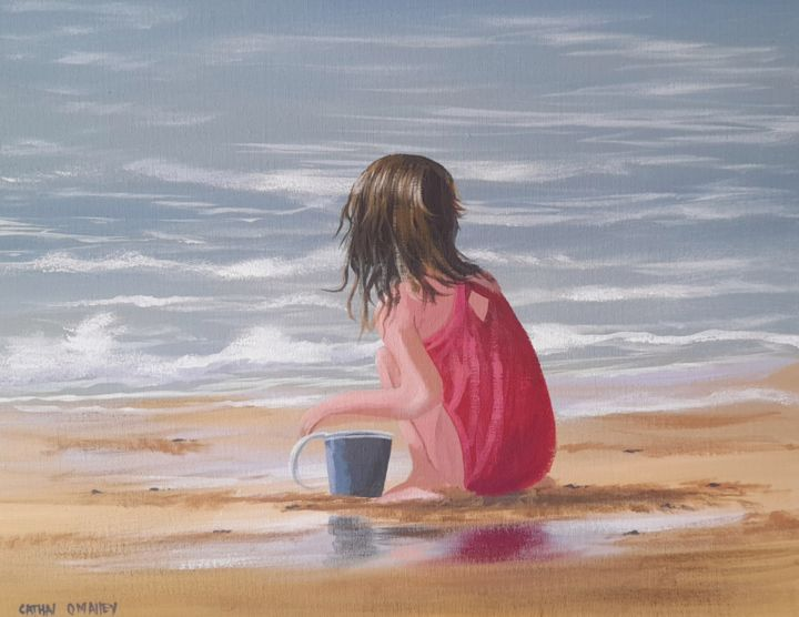 """Painting titled """"By the beach"""" by Cathal O Malley, Original Art, Acrylic"""