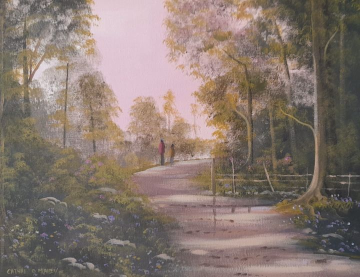"""Painting titled """"Summer rambles"""" by Cathal O Malley, Original Art, Acrylic"""
