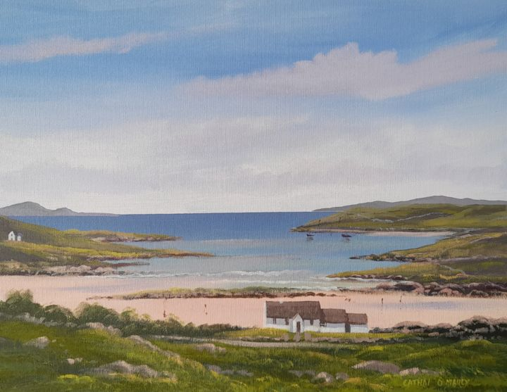 """Painting titled """"0mey strand july"""" by Cathal O Malley, Original Art, Acrylic"""