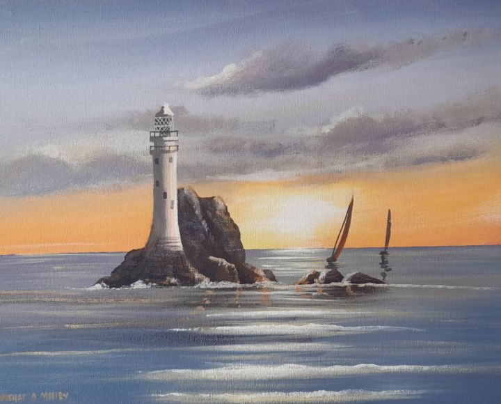 """Painting titled """"Fastnet waves"""" by Cathal O Malley, Original Art, Acrylic"""