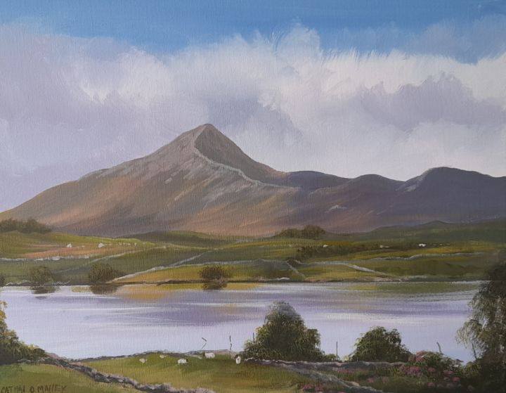"""Painting titled """"Croagh  patrick Co…"""" by Cathal O Malley, Original Art, Acrylic"""
