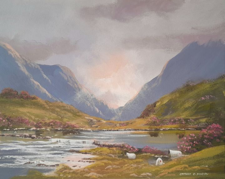 """Painting titled """"Connemara evening l…"""" by Cathal O Malley, Original Art, Acrylic"""
