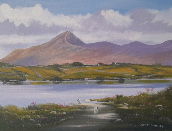 """Painting titled """"Croagh  patrick,mayo"""" by Cathal O Malley, Original Art, Acrylic"""