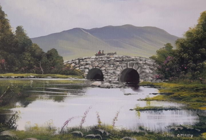 """Painting titled """"Quiet man bridge,se…"""" by Cathal O Malley, Original Art, Acrylic"""