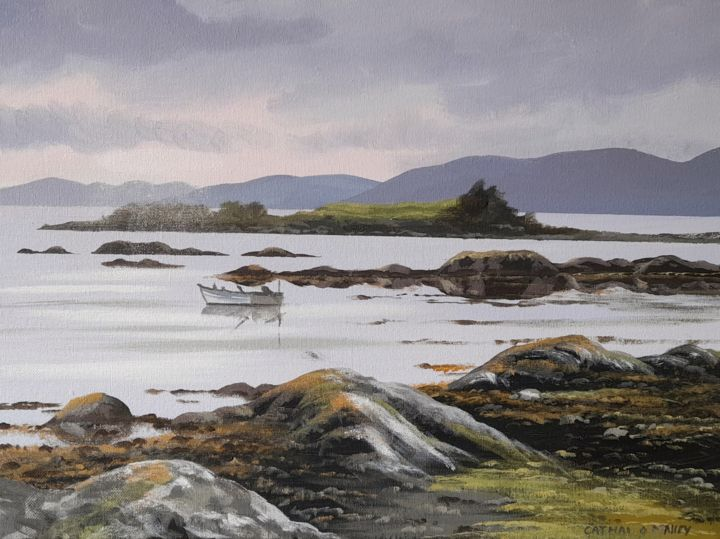 """Painting titled """"Kenmare beach co ke…"""" by Cathal O Malley, Original Art, Acrylic"""