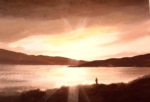 road to clifden - Painting,  10x12 in ©2005 by Cathal O Malley -