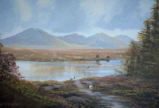 connemara summer - Painting,  16x20 in ©2004 by Cathal O Malley -