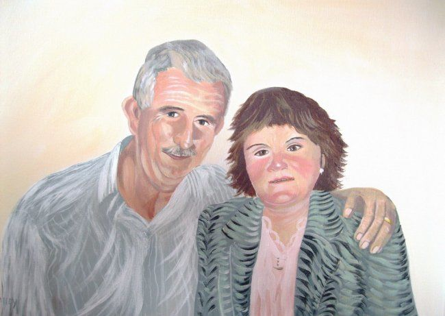 anniversary - Painting,  24x18 in ©2011 by Cathal O Malley -