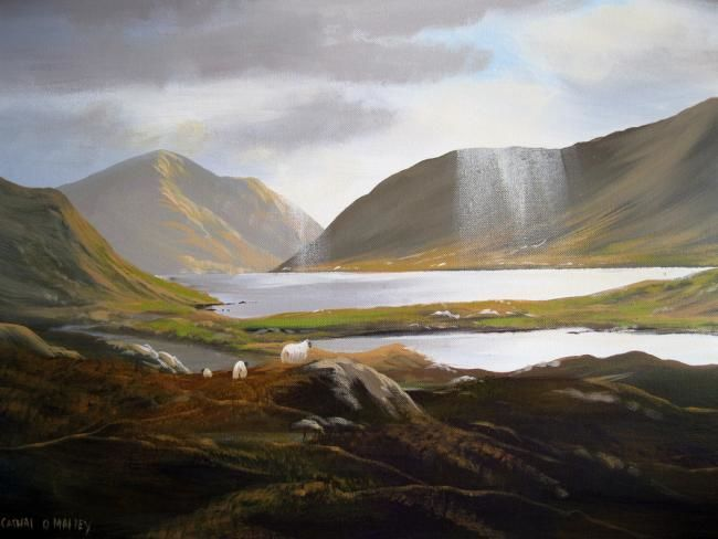 sunshine sheep - Painting,  20x30 in ©2012 by Cathal O Malley -