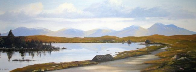 roundstone co galway - Painting,  20x30 in ©2012 by Cathal O Malley -
