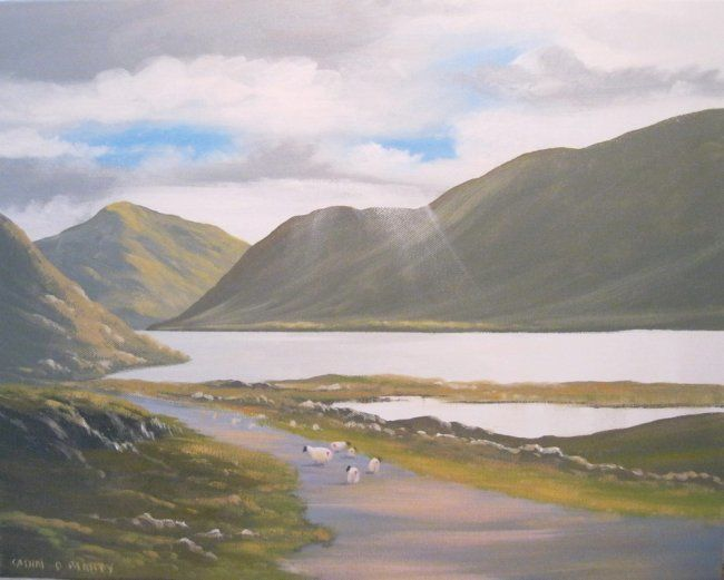 DOO VALLEY CO MAYO - Painting,  16x20 in ©2013 by Cathal O Malley -