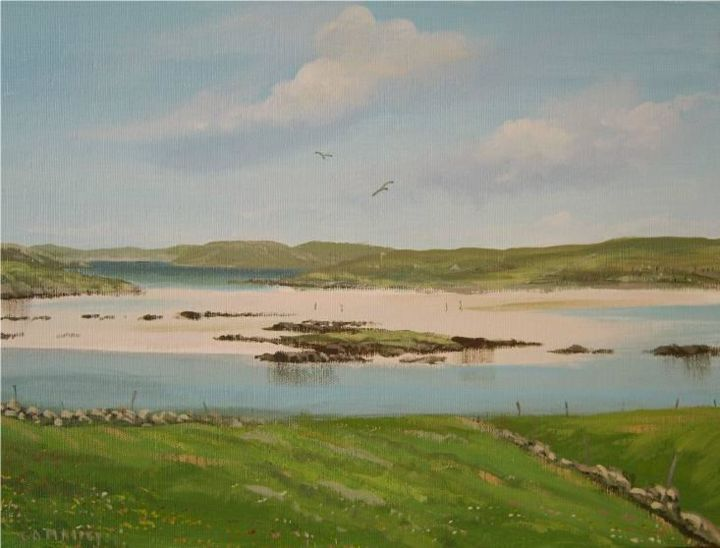 omey island - Painting,  16x12 in ©2006 by Cathal O Malley -