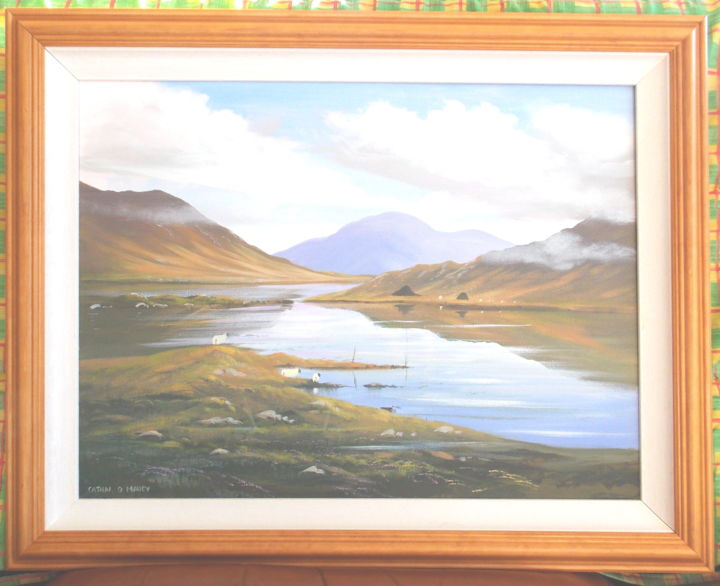 framed-autumn-connemara.jpg - Painting ©2013 by Cathal O Malley -