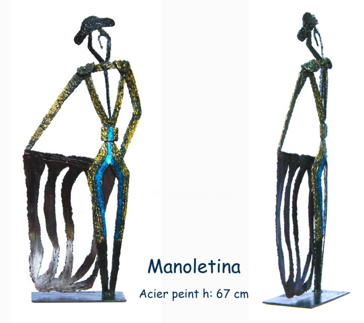 manoletina-book.jpg - Sculpture,  5.9x24.8 in, ©2013 by Jean Claude Causse -                                                                                                                                                                                                  corrida, sculpture torero, tauromachie, sculpture toro