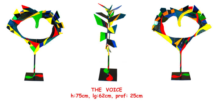 the-voice-f-book.jpg - Sculpture,  75x62 cm ©2016 by Jean Claude Causse -                                            Metal, Abstract Art, métal peint, sculpture métal, art, metal, sculpture, artcontemporain, artmoderne, ironpaint, artwork, contemporaryart, modernart, instaart, loveart
