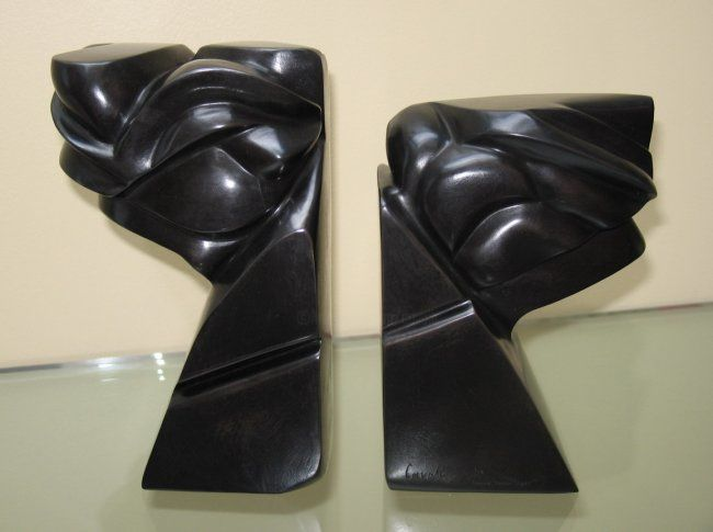 Avanti - Sculpture,  3.2x8.3x11.8 in, ©2007 by Pascal Cavalli -                                                                                                                                                                                                                                                                          Abstract, abstract-570, Bronze, Abstract Art, bronze patiné contemporain