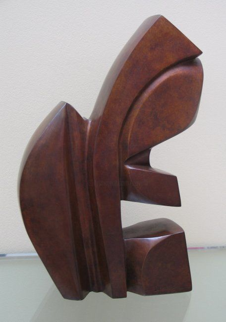 Elancée - Sculpture,  12.6x3.2x8.7 in, ©2007 by Pascal Cavalli -                                                                                                                                                                                                                          Abstract, abstract-570, Bronze, Abstract Art