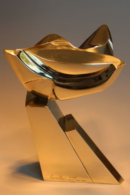 Elégante - Sculpture, ©2012 by Pascal Cavalli -                                                                                                                                                                                                                          Abstract, abstract-570, Bronze, Abstract Art