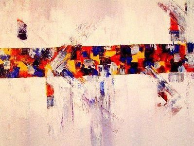 Painting,  46 x 55 cm ©2004 by Gérard Cavazza -  Painting, Abstract Painting
