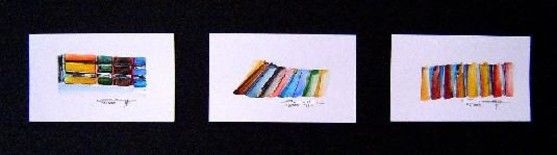 Painting,  15 x 50 cm ©2004 by Gérard Cavazza -  Painting, Abstract Expressionism