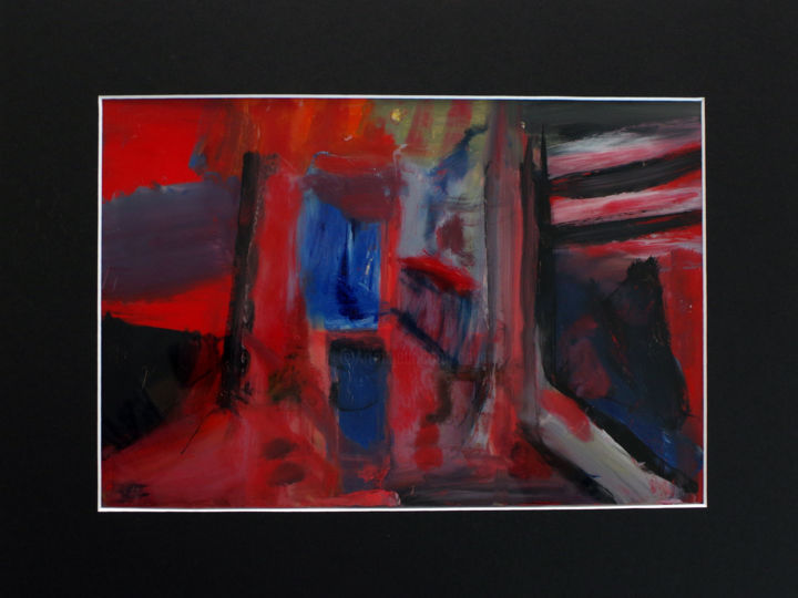 Une passion moderne - Painting,  30x40 cm ©2019 by Muriel Cayet -                                        Contemporary painting, Interiors