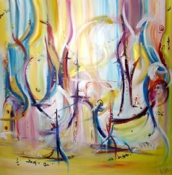 Painting,  100 x 100 cm ©2004 by Muriel Cayet -  Painting