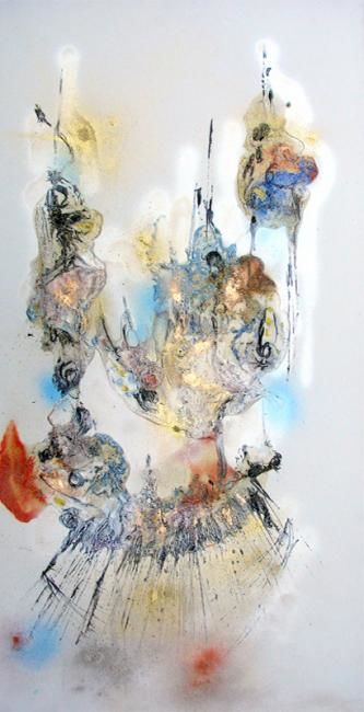 Painting,  50 x 100 cm ©2007 by Muriel Cayet -  Painting